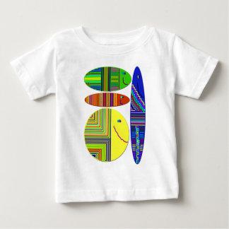 カラフルな魚のデザインのワイシャツ ベビーTシャツ