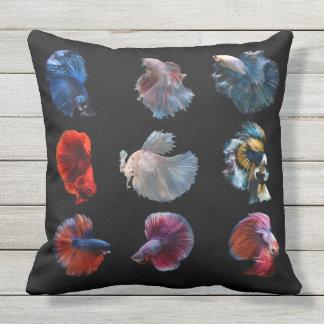 カラフルな魚の装飾用クッション アウトドアクッション