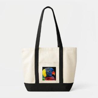 カラフルな鳥 トートバッグ