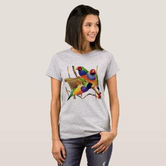 カラフルな鳥 Tシャツ