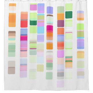 カラフルなDNAのシャワー・カーテン シャワーカーテン