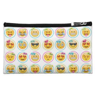 カラフルなEmojiの化粧品のバッグ コスメティックバッグ