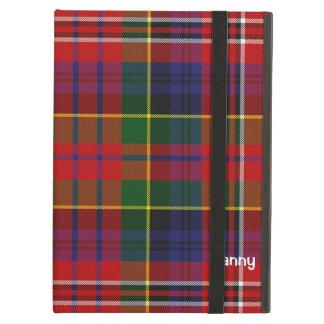 カラフルなMacPhersonのタータンチェック格子縞のカスタム iPad Airケース