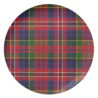 カラフルなMacPhersonのタータンチェック格子縞のプレート プレート