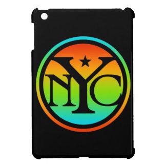 カラフルなNYCのロゴ iPad MINIケース