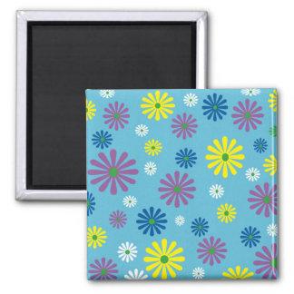 カラフルなpopartの花柄の磁石 マグネット