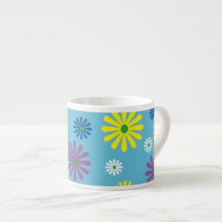 カラフルなpopartの花模様のエスプレッソのマグ エスプレッソカップ