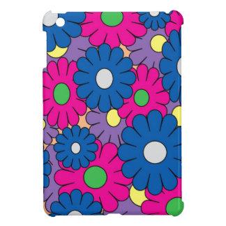 カラフルなpopartの花模様 iPad miniカバー