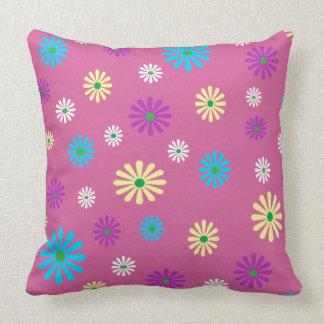 カラフルなpopart花パターン枕 クッション