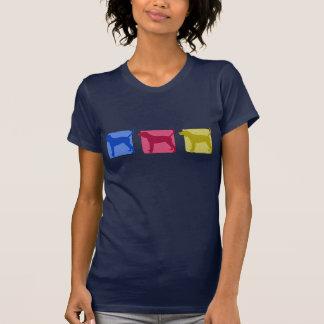 カラフルなRedboneのCoonhoundのシルエット Tシャツ