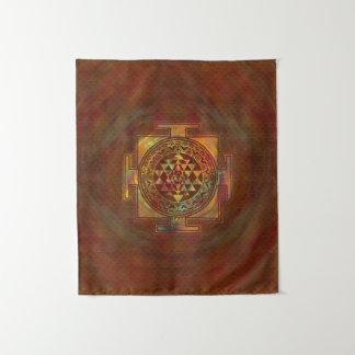 カラフルなSri Yantra/Sriのチャクラ タペストリー