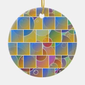 カラフルによってタイルを張られるパズル セラミックオーナメント