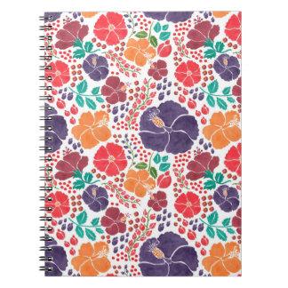 カラフルによって分散させる花 ノートブック