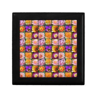 カラフルによって分類される花のコラージュのプリント ギフトボックス