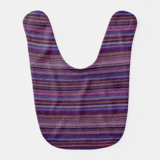 カラフルによって編まれるパターン ベビービブ