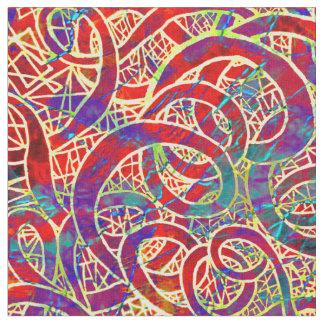 カラフルのコイルパターン ファブリック