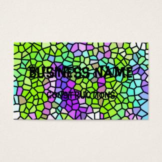カラフルのステンドグラスパターン 名刺