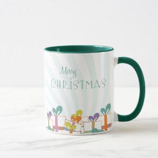 カラフルのプレゼントのクリスマスのマグ マグカップ