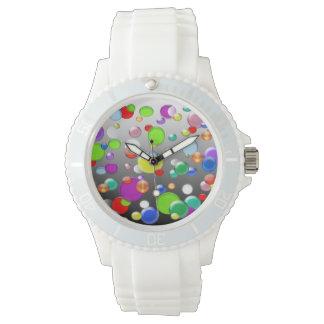 カラフルの円パターン腕時計 腕時計