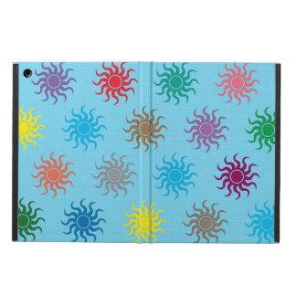 カラフルの太陽パターンipadの空気箱 iPad airケース