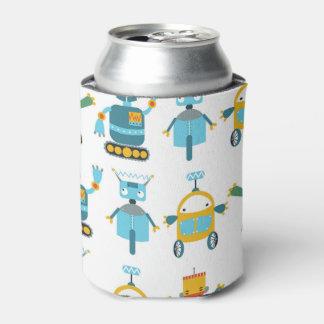 カラフルの子供のロボット 缶クーラー
