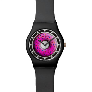 カラフルの小さいドーナツは振りかけます + あなたのアイディア 腕時計