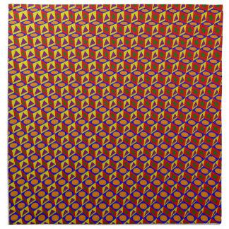 カラフルの形パターン: ナプキンクロス