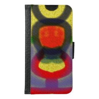 カラフルの抽象芸術のカッコいいパターン GALAXY S6 ウォレットケース