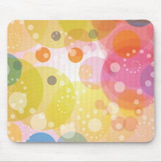 カラフルの抽象芸術の円パターンが付いているマウスパッド マウスパッド