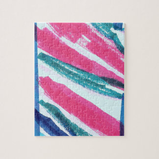 カラフルの抽象芸術は縞で飾ります ジグソーパズル