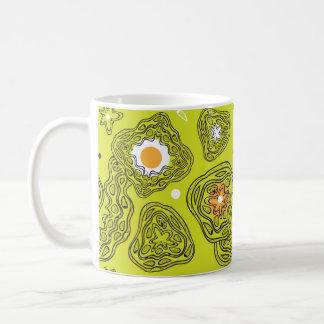 カラフルの抽象芸術パターンとのMag コーヒーマグカップ