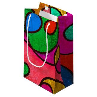 カラフルの抽象芸術 スモールペーパーバッグ
