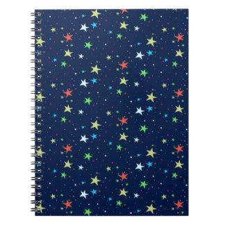 カラフルの星の空 ノートブック
