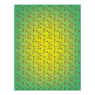 カラフルの正方形のスクラップブックの紙 レターヘッド