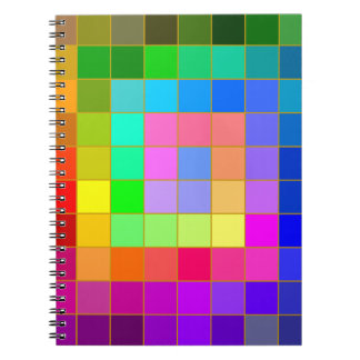カラフルの正方形のノート ノートブック
