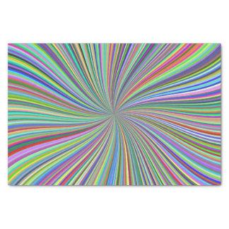 カラフルの渦巻くリボンの光学螺線形の芸術 薄葉紙