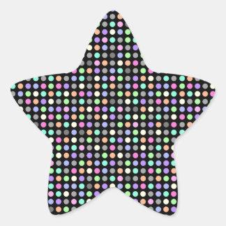 カラフルの点の星の形のステッカー 星シール