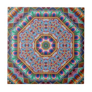 カラフルの神聖な曼荼羅 タイル
