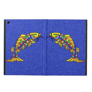 カラフルの空想の抽象芸術の魚 iPad AIRケース