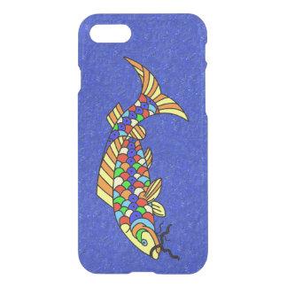 カラフルの空想の抽象芸術の魚 iPhone 7ケース