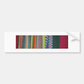 カラフルの糸の虹 バンパーステッカー