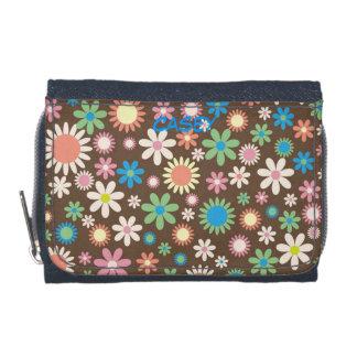 カラフルの花の財布