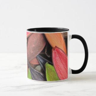 カラフルの貝の自然の収穫の種のポッド マグカップ
