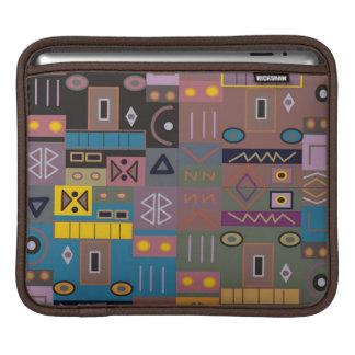 カラフルはアフリカの芸術を抽出します iPadスリーブ
