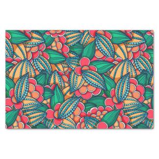 カラフルはココア豆の図解入りの、写真付きのなパターンを抽出します 薄葉紙