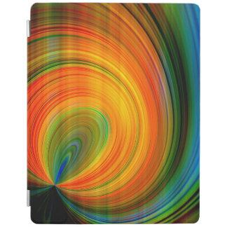カラフルはフラクタルの芸術を抽出します iPadスマートカバー