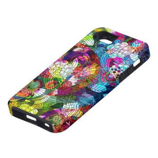 カラフルはヴィンテージの花のコラージュを抽出します iPhone SE/5/5s ケース
