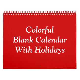 カラフルは休日のカレンダーを消します カレンダー