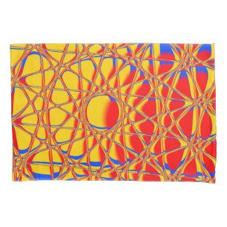 カラフルは写実的なオレンジおよび青抽出します 枕カバー