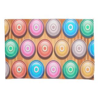 カラフルは同心円パターンを抽出します 枕カバー